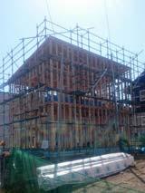 株式会社高盛ハウスの岩手県滝沢市の大工工事戸建て現場のレポート写真になります。