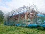 株式会社高盛ハウスの岩手県盛岡市の上棟応援戸建て現場写真になります。