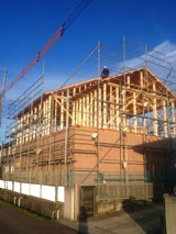 株式会社高盛ハウスの宮城県亘理郡亘理町の大工工事戸建て現場のレポート写真になります。