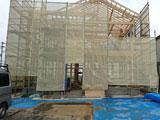 株式会社高盛ハウスの宮城県角田市の大工工事戸建て現場のレポート写真になります。