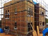 株式会社高盛ハウスが施工中の岩手県宮古市内(宮古市現場)の大工工事戸建て現場紹介写真になります。
