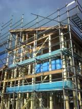 株式会社高盛ハウスが施工中の岩手県釜石市内(釜石市甲子町現場)の大工工事戸建て現場紹介写真になります。