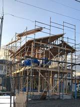 株式会社高盛ハウスが施工中の岩手県一関市内(一関市山目現場)の大工工事戸建て現場紹介写真になります。