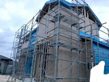 株式会社高盛ハウスが施工中の宮城県名取市内(名取市現場)の大工工事現場紹介写真になります。