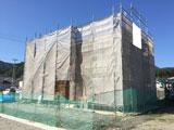 株式会社高盛ハウスが施工中の岩手県釜石市内(釜石市現場)の大工工事現場紹介写真になります。