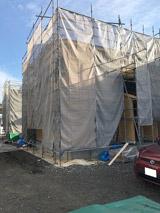 株式会社高盛ハウスが施工中の岩手県花巻市内(花巻市現場)の大工工事戸建て現場紹介写真になります。