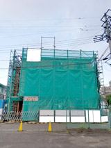 株式会社高盛ハウスが施工中の宮城県仙台市内(仙台市現場)の大工工事アパート現場紹介写真になります。
