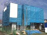 株式会社高盛ハウスが施工中の岩手県盛岡市内(盛岡市現場)の大工工事戸建て現場紹介写真になります。