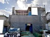 株式会社高盛ハウスが施工中の宮城県柴田郡大河原町内(大河原町現場)の大工工事戸建て現場紹介写真になります。