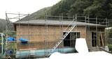 株式会社高盛ハウスが施工中の岩手県上閉伊郡大槌町内(大槌町現場)の大工工事現場紹介写真になります。