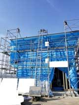 株式会社高盛ハウスが施工中の宮城県遠田郡美里町内(美里町現場)の大工工事戸建て現場紹介写真になります。