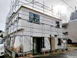 株式会社高盛ハウスが施工中の宮城県仙台市内(仙台市現場)の大工工事店舗兼住宅現場紹介写真になります。