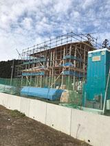 株式会社高盛ハウスが施工中の岩手県大船渡市内(大船渡市現場)の大工工事戸建て現場紹介写真になります。