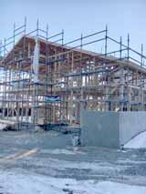 株式会社高盛ハウスが施工中の岩手県陸前高田市内(陸前高田市現場)の大工工事戸建て現場紹介写真になります。