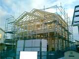 株式会社高盛ハウスが施工中の宮城県岩沼市内(岩沼市現場)の大工工事戸建て現場紹介写真になります。