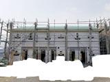 株式会社高盛ハウスが施工中の岩手県大船渡市内(大船渡市現場)の大工工事アパート現場紹介写真になります。