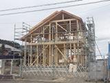 株式会社高盛ハウスが施工中の宮城県仙台市内(仙台市現場)の大工工事戸建て現場紹介写真になります。