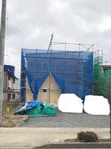 株式会社高盛ハウスが施工中の岩手県奥州市内(奥州市現場)の大工工事戸建て現場紹介写真になります。