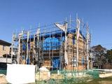 株式会社高盛ハウスが施工中の宮城県気仙沼市内(気仙沼市現場)の大工工事戸建て現場紹介写真になります。